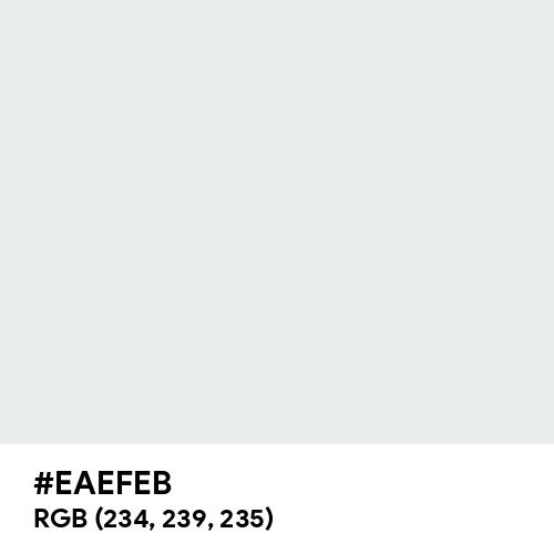 Bright Gray (Hex code: EAEFEB) Thumbnail