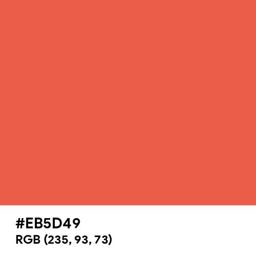 Classic Coral (Hex code: EB5D49) Thumbnail