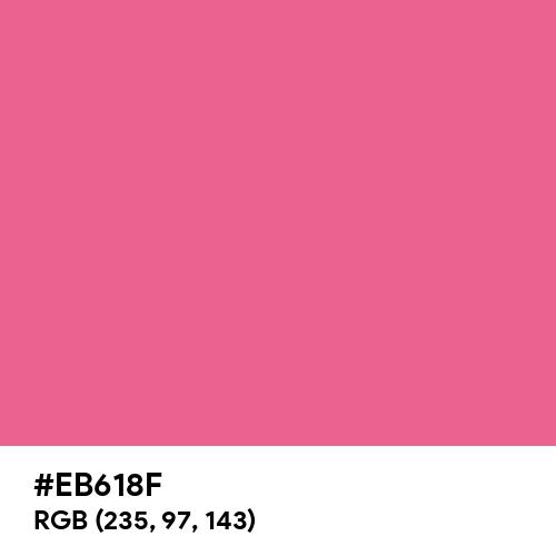 Pastel Red Rose (Hex code: EB618F) Thumbnail