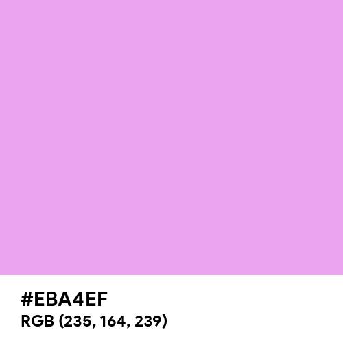 Rich Brilliant Lavender (Hex code: EBA4EF) Thumbnail