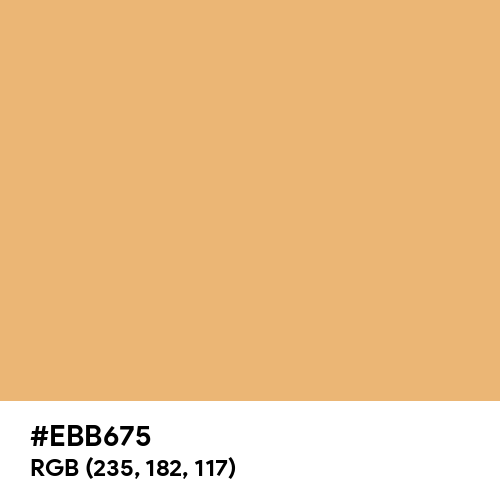 Warm Peach (Hex code: EBB675) Thumbnail