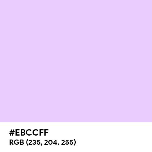 Pastel Mauve (Hex code: EBCCFF) Thumbnail