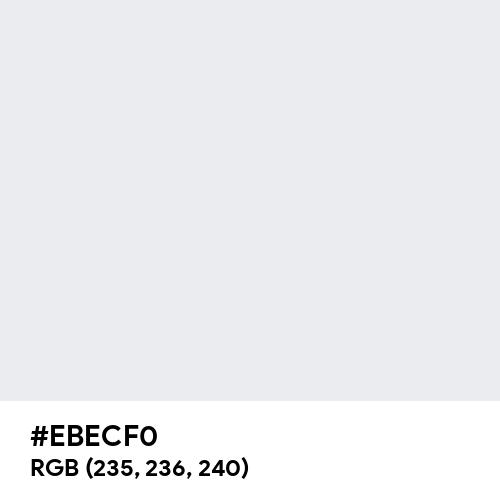 Bright Grey (Hex code: EBECF0) Thumbnail