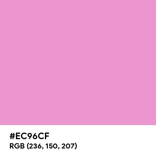 Orchid (Crayola) (Hex code: EC96CF) Thumbnail