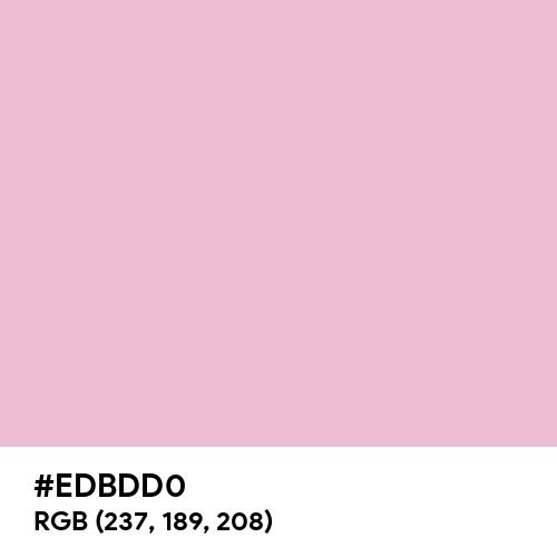Cameo Pink (Hex code: EDBDD0) Thumbnail