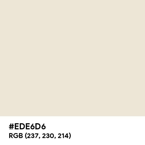 White Chocolate (Hex code: EDE6D6) Thumbnail