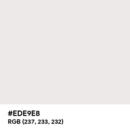 Dirty White (Hex code: EDE9E8) Thumbnail