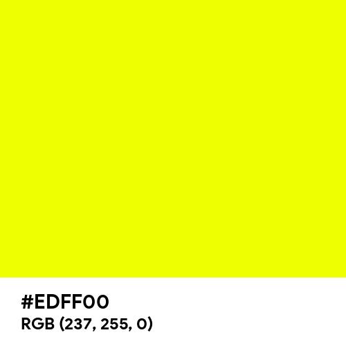 Safety Yellow (Pantone) (Hex code: EDFF00) Thumbnail