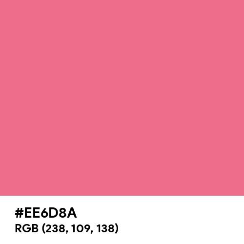 Pink Lemonade (Hex code: EE6D8A) Thumbnail
