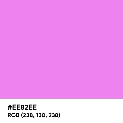 Violet (Hex code: EE82EE) Thumbnail