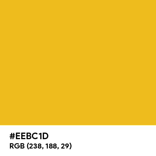 Dark Gold (Hex code: EEBC1D) Thumbnail