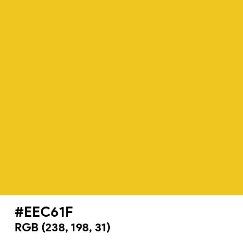 Warm Golden Yellow (Hex code: EEC61F) Thumbnail