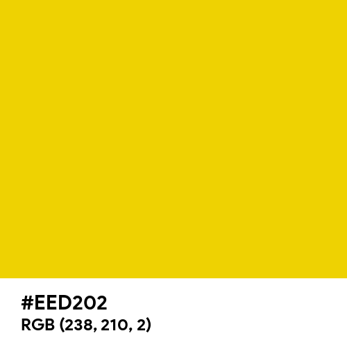 Safety Yellow (ANSI) (Hex code: EED202) Thumbnail