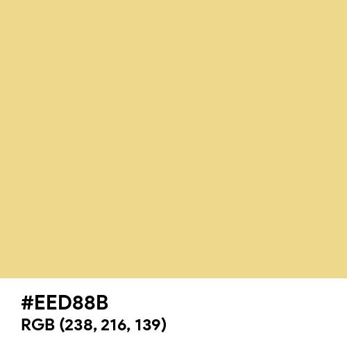 Natural Yellow (Hex code: EED88B) Thumbnail