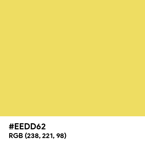 Light Mustard (Hex code: EEDD62) Thumbnail