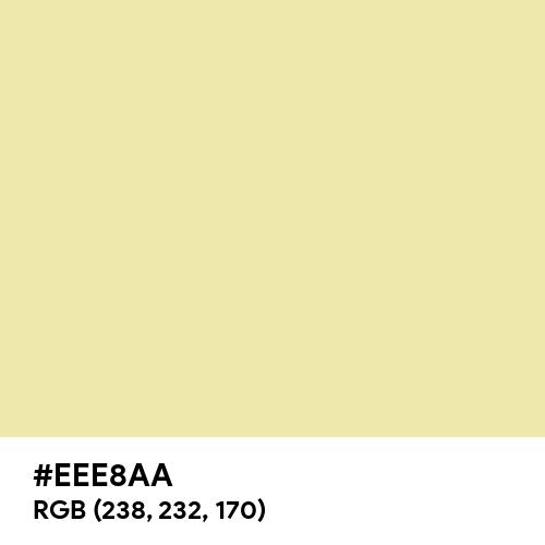 Pale Goldenrod (Hex code: EEE8AA) Thumbnail