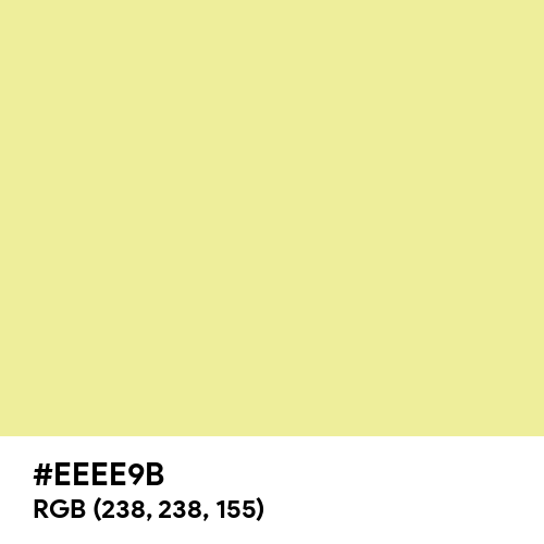 Soft Yellow (Hex code: EEEE9B) Thumbnail