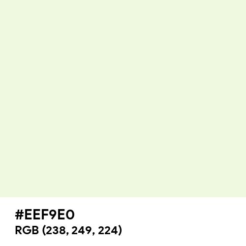 Beige (Hex code: EEF9E0) Thumbnail