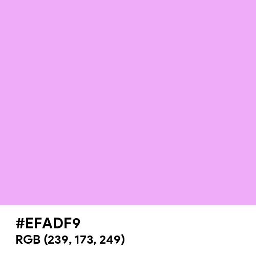 Pale Magenta (Hex code: EFADF9) Thumbnail