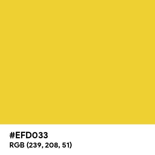 Aesthetic Yellow (Hex code: EFD033) Thumbnail