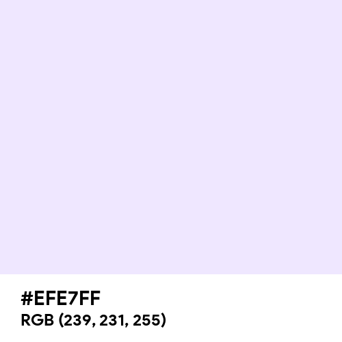 Lavender (Web) (Hex code: EFE7FF) Thumbnail
