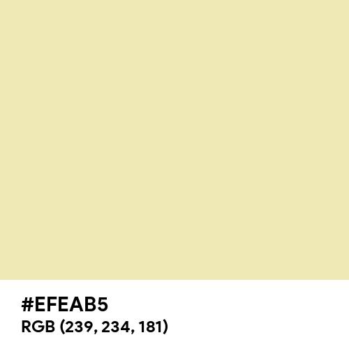 Potato (Hex code: EFEAB5) Thumbnail
