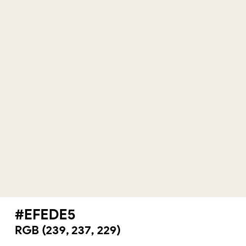 Old White (Hex code: EFEDE5) Thumbnail