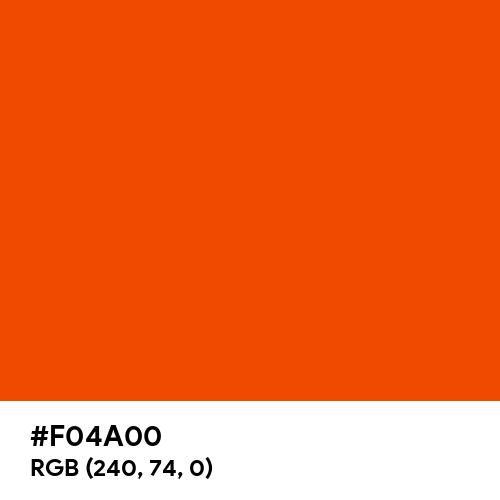 International Orange (Hex code: F04A00) Thumbnail