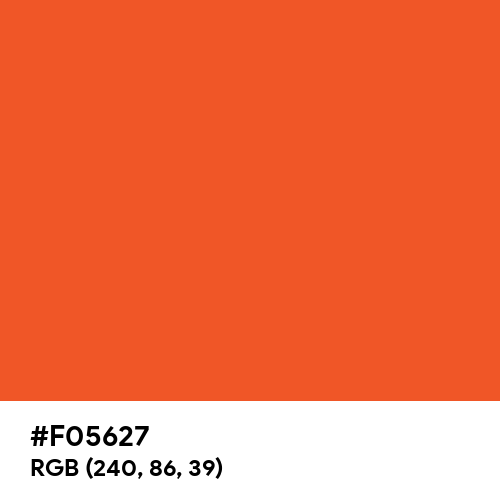 Red Orange (Pantone) (Hex code: F05627) Thumbnail