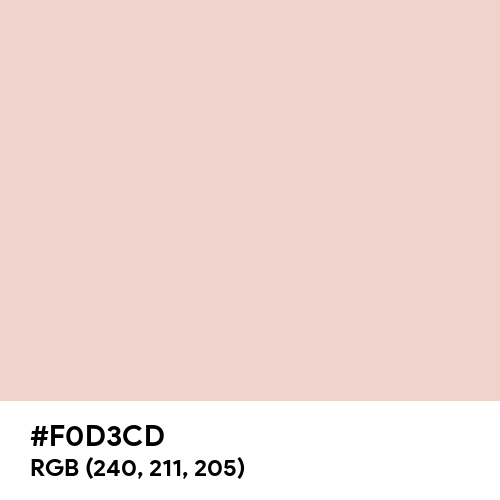 Soft Nude (Hex code: F0D3CD) Thumbnail
