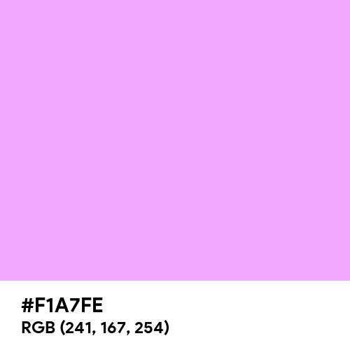 Rich Brilliant Lavender (Hex code: F1A7FE) Thumbnail