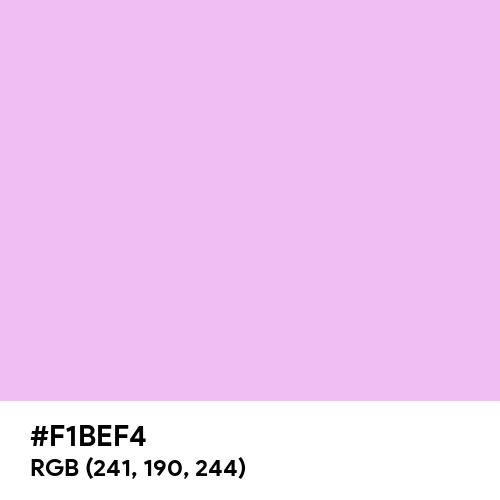 Brilliant Lavender (Hex code: F1BEF4) Thumbnail