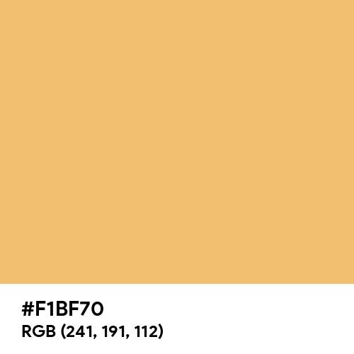 Buff Yellow (Hex code: F1BF70) Thumbnail