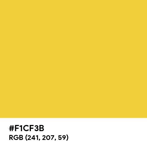 Gold Yellow (Hex code: F1CF3B) Thumbnail