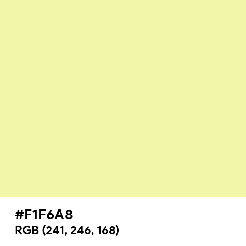 Pale Goldenrod (Hex code: F1F6A8) Thumbnail