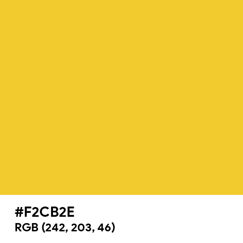 Zinc Yellow (RAL) (Hex code: F2CB2E) Thumbnail