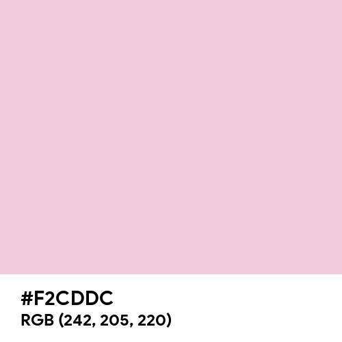 Queen Pink (Hex code: F2CDDC) Thumbnail