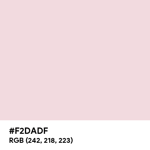 Nude Pink (Hex code: F2DADF) Thumbnail