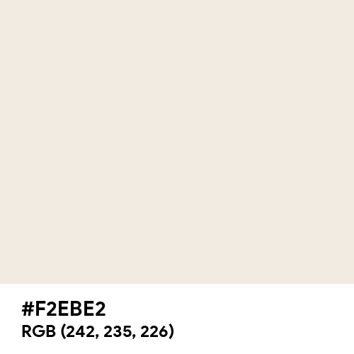 White Beige (Hex code: F2EBE2) Thumbnail