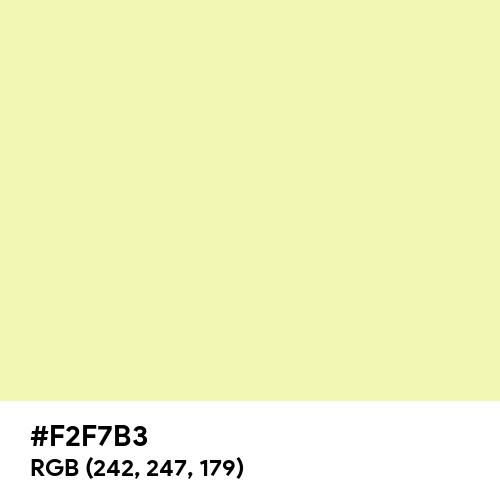 Blond (Hex code: F2F7B3) Thumbnail
