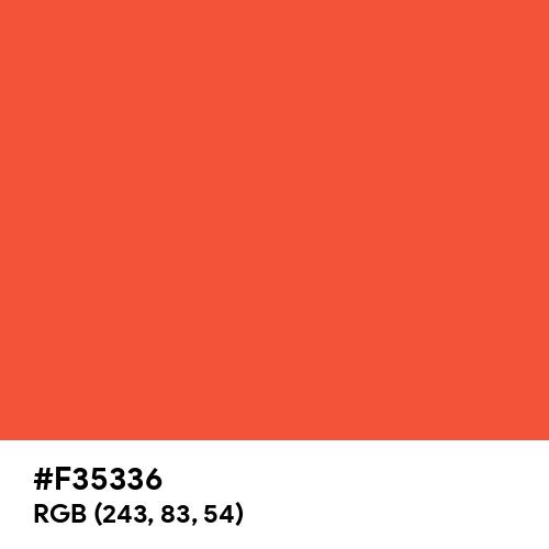 紅緋 (Benihi) (Hex code: F35336) Thumbnail