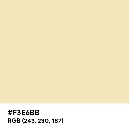 Fresh Banana (Hex code: F3E6BB) Thumbnail