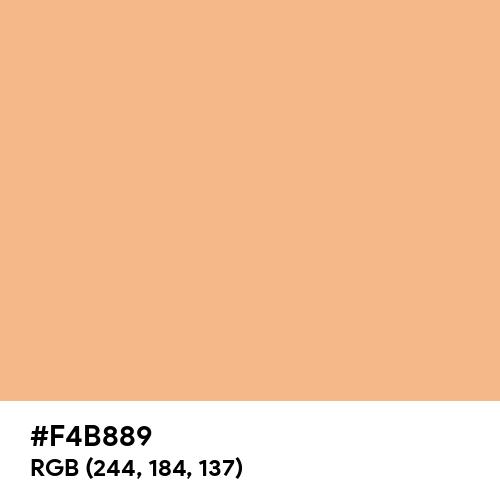 Rich Apricot (Hex code: F4B889) Thumbnail