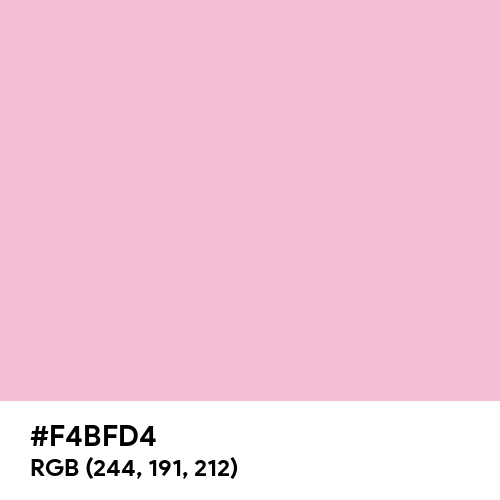 Aesthetic Pink (Hex code: F4BFD4) Thumbnail