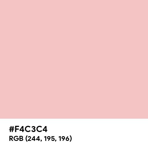Strawberry Cream (Hex code: F4C3C4) Thumbnail