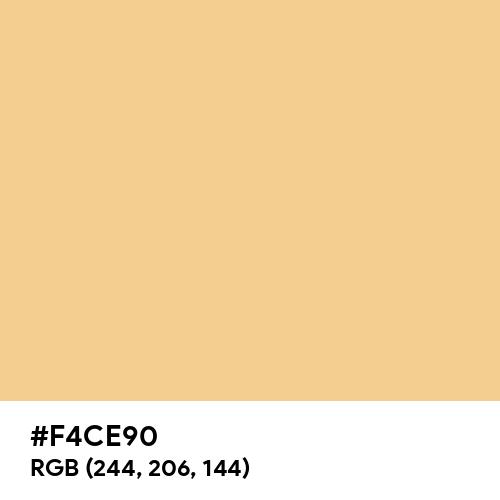 Peach-Orange (Hex code: F4CE90) Thumbnail