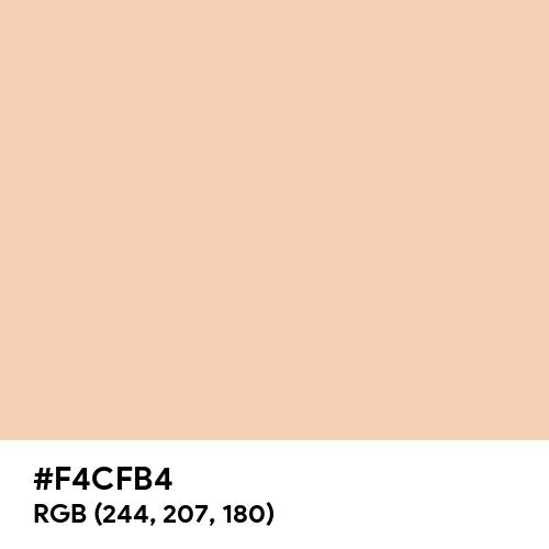 Summer Peach (Hex code: F4CFB4) Thumbnail