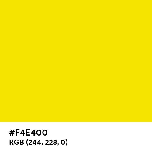 Process Yellow (Pantone) (Hex code: F4E400) Thumbnail