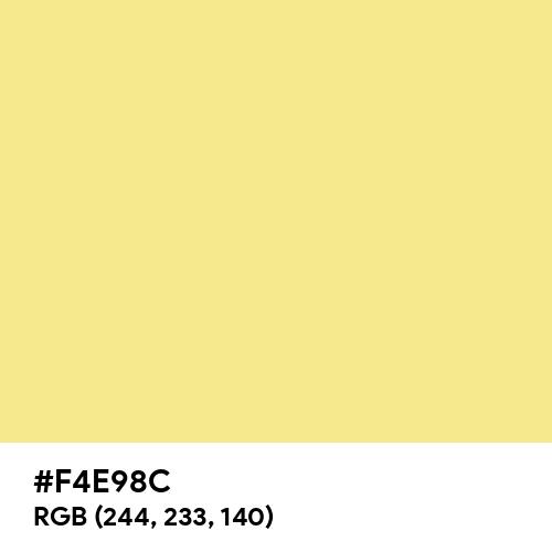 Warm Yellow (Hex code: F4E98C) Thumbnail