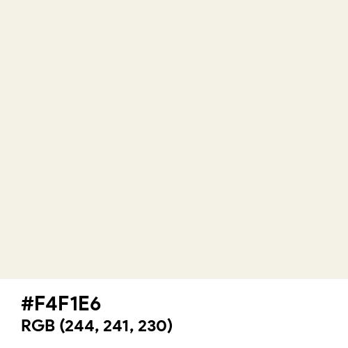 Deep White (Hex code: F4F1E6) Thumbnail